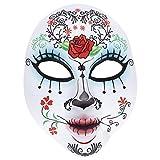 Amakando Sugar Skull Antifaz Halloween Máscara Día de los Muertos Careta...