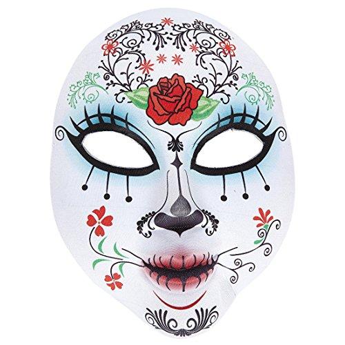 Tag Skull Maske Den Toten Der (Halloweenmaske Sugar Skull Dia de los Muertos Maske Tag der Toten Horrormaske Gesichtsmaske La Catrina Mexikanische Totenmaske Halloween Skull Mask)