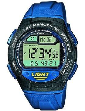 Casio Collection – Unisex-Armbanduhr mit Digital-Display und Resin-Armband – W-734-2AVEF