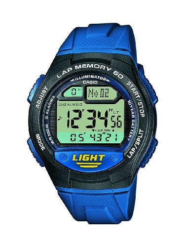 Casio Collection Unisex Digital Watch with Resin Strap  W-734-2AVEF