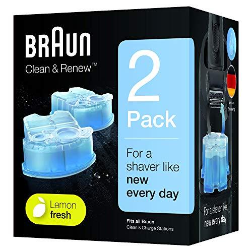 Braun Clean & Renew Reinigungskartuschen CCR 2 für Series 3-9 Elektrorasierer, 2 Stück -