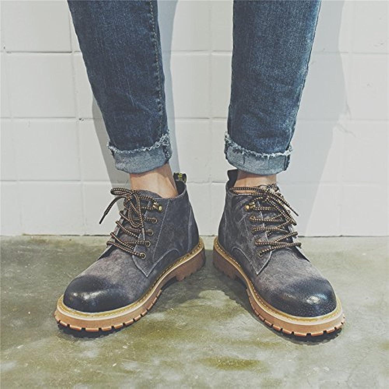 HL-PYL-Tooling Stivali Stivali scarpe retrò coreano Martin Stivali Stivali alti,44,grigio | Buy Speciale  | Uomo/Donna Scarpa