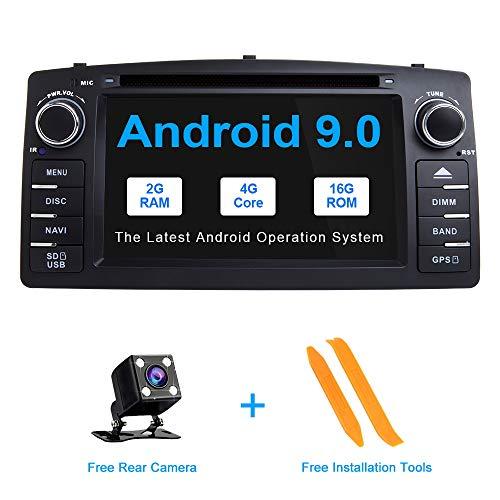ZLTOOPA Android 9.0 Autoradio für Toyota Corolla E120 BYD F3 Autoradio GPS mit vollem RCA-Ausgang WiFi OBD Lenkradfernbedienung