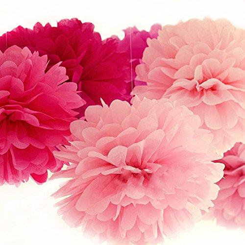 Super44day Set di 30 tissue paper flowers pompon palla appesa decorazione fai da te per (Baby Shower Inviti Libri)