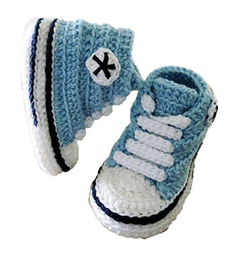 Wolle Meses 12 Violáceo Hohe 9 Rosa Winter herbst Qualität Söckchen Baby Handgefertigt Himmelblau Converse gvA4F