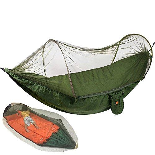 Camping Hamaca con cremallera mosquiteros egymcom Multi-funcional al aire libre pop-out Hamaca...