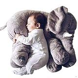 Minetom Bambini Neonati Cuscino Sacco a Pelo Cute Elefante Peluche Pillow Cuscini Comfort Morbido Giocattolo Regali per Bambini Grigio SmallSize(40cm)