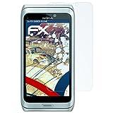 atFolix Panzerfolie für Nokia E7 Folie - 3 x FX-Shock-Clear stoßabsorbierende ultraklare Displayschutzfolie