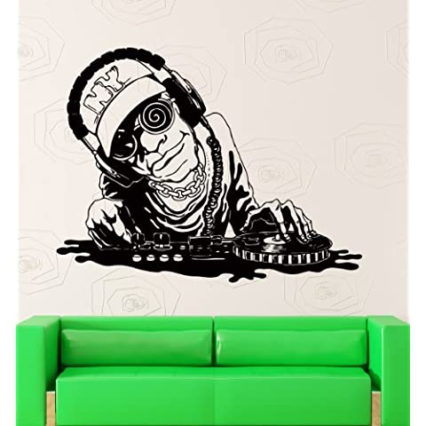 Pared pegatinas Vinilo DJ Night Club Música Decor para salón (z2177i)