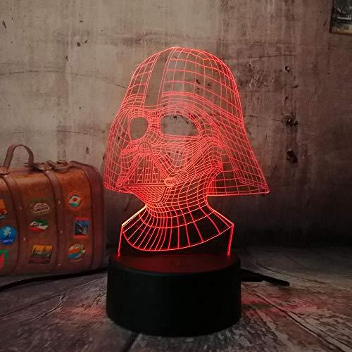 3D Lampe Leuchte LED Stimmungslicht Maske 7 Farben Touch-Schalter Ändern Nachtlicht Für Schlafzimmer Hochzeit Weihnachten Valentine Geburtstag Geschenk