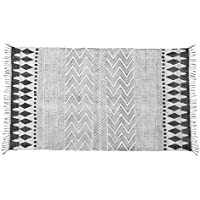 Tessuto a mano cotone morbido grande tappeto da terra con stampa geometrica tribale 60 x (Cotone Tessuto Piano Tappeto)