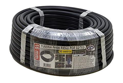 s & m 010057–Drip Pipe, 16mm x 50m, Black