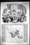 Plan 1860 de Brigade de Fusil d'Artisan d'Edimbourg de Théâtre de Variétés de Bazar Bridgetown Barbade