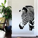 Wanddeko Papeterie 56*91cm Wilden Dschungel Tier Kunst bansky Zebra Print Zebra Wandtattoos Kunst für Kinderzimmer Schlafzimmer
