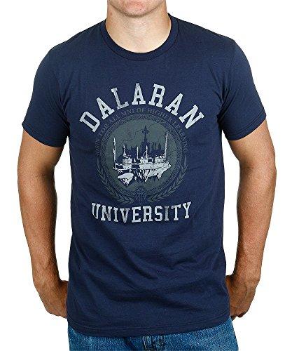 WOW dalaran University–Camiseta Hombre Algodón Marina J.NX Camiseta, hombre, negro, extra-large