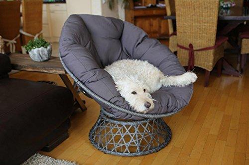 Destiny Drehsessel Coco Sit Papasansessel Round Schwenksessel Korbsessel Hundekorb Hundesessel Gartensessel Sessel - 8