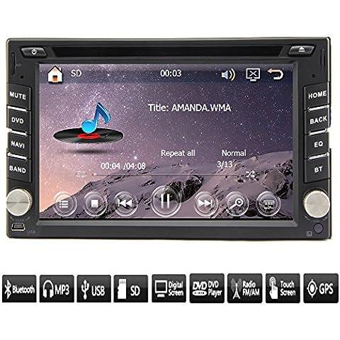 In Deck Car Stereo Video Electronics Multimedia Auto Radio di navigazione GPS Automotive Parts TV auto 2 din in dash Headunit DVD lettore CD MP3 musica Autoradio schermo LCD 6.2 pollici RDS iPod Sub AMP
