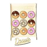 AEROBATICS Donut Wall,Hochzeitsdekoration aus Holz Donut Rack Donut hält Lagerregale Back-Zubehör Präsentation Gebäck Backen Kuchen-Buffet