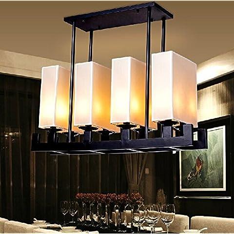 CHJK BRIHT Nuovo panno cinese copre 3 rettangolare di ferro di testa le luci pendenti antica locanda Hotel Engineering Club Ristorante Corridoio Sala da Pranzo