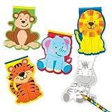 Baker Ross Notizblöcke Dschungelfreunde für Kinder als kleine Überraschung oder als Preis bei Partyspielen (6 Stück)