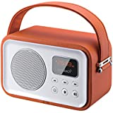 Sunstech RPBT450OR - Radio portátil (Digital FM, Altavoz, Bluetooth, micrófono, USB, SD, 2.5W RMS), color naranja