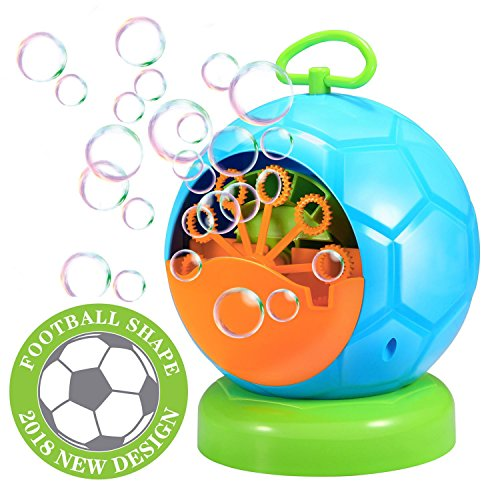 (Seifenblasenmaschine,Geekper Bubble machine Seifenblasen Maschine für Kinder die Verwendung draußen oder drinnen Spaß (Blau))