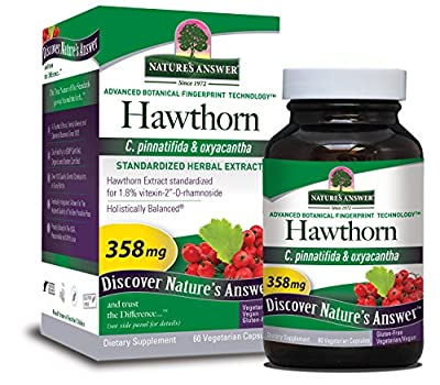 Nature's Answer Hawthorn Berry-Standardized 60 Capsules by Nature's Answer