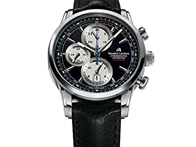 Maurice Lacroix Pontos Chrono Retro Automatic Watch, Stainless Steel, Black