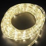 Deckey 10M Lichterschlauch LED Lichtschlauch Außen/Innen Microlichter Weihnachten Lichterkette (10m warmweiß mit 8 Leuchteffekten)
