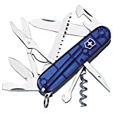 Victorinox 13713T2 Offiziermesser Huntsman 15 Funktionen, blau transparent