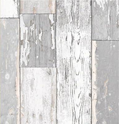Klebefolie Scrapwood grau - Möbelfolie altes Holz - Dekorfolie 45x200