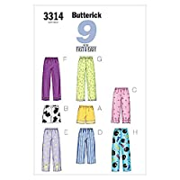 Butterick Ladies Petite Sewing Pattern 3314 - Pyjamas Sleepwear Sizes: XS-S-M