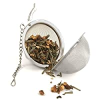 Budwhite Ball Infuser - 5.0 cm Idle For Green Tea, Loose Leaf Tea & Tea Bags, Long Lasting, Rust Free, Perfect & Flavor Rich Brew (Perfect Tea Strainer, Tea Filter, Tea Maker, Tea Ball, Stainless Steel, tea infuser)