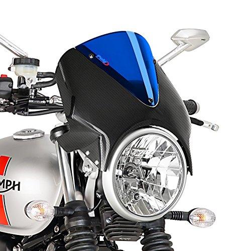Pare Brise Suzuki SV 650 03-08 Puig Vision carbone-bleu