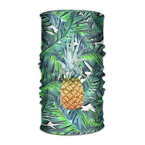 Tropical Pineapple Palm Tree Headwear For Men And Women-Yoga Sports Travel Workout Wide Headbands,Neck Gaiter,Bandana,Helmet Liner,Balaclava,Hair Turban,Scarf
