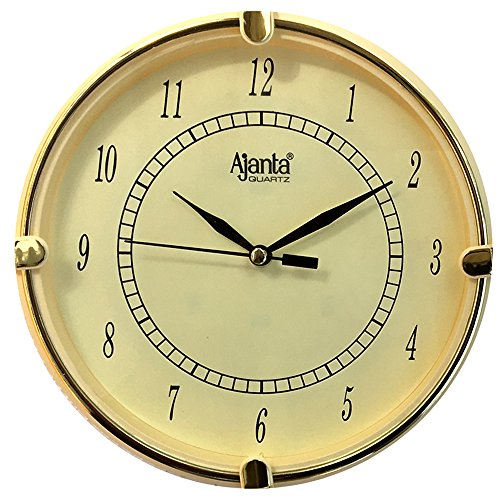 Ajanta Fancy Analog Wall Clock Small Size For Home And Office Round Ivory  available at amazon for Rs.140