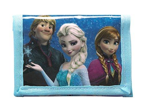 Disney Frozen - Die Eiskönigin, Elsa Anna Olaf, Geldbeutel Portemonnaie (S036), blau/weiß (615), 12,5 x 9,5 x 1,4 cm Disney-frozen-geldbörse