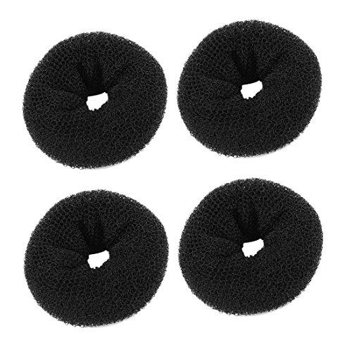 Forme Cercle Magique Donut à Anneau Dispositif Salon de coiffure Noir 4pcs