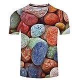 Camiseta de Manga Corta de Malla de Piedra de Color 3D Que Absorbe la Ropa de los Hombres Deportivos TXKH1083 6XL
