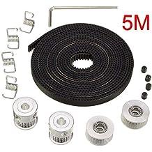 Electrely Correa Dentada GT2 de 5M + 2Pcs 5mm 20 Dientes Rueda de Polea de Sincronización