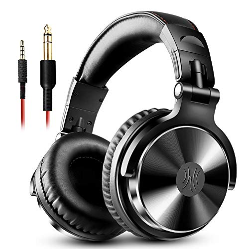 LHYXEJ Big Earmuffs Headset kabelgebundene Kopfhörer, E-Piano-Disc-Player Musikinstrument Stil, faltbar und Komfortables Design, Wieder echten Klang