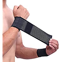 Elastische Handgelenk Bandage 2er Set für Damen und Herren stützt hilft Überlastung zu vermeiden atmungsaktiv... preisvergleich bei billige-tabletten.eu