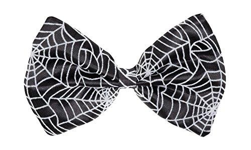 erdbeerloft - Kostüm Fliege Schleife Spinnen-Netz-Muster Spider, Schwarz