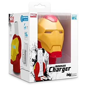 Bigben Marvel Iron Man Ladegerät Akku Docking Lader Ladestation Docking Dock für Nintendo Wii Controller Wiimote