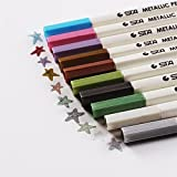 beupro Oddis Metallic Marker Pens, Satz von 10 Farben Metallischen Stift Marker für Kartenherstellung und DIY Fotoalbum