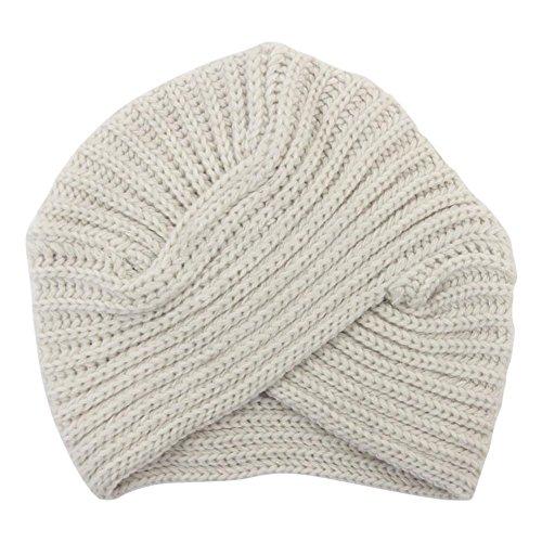 Dxlta Mode Frauen Gestrickte Turban Hut Indien Platte Kopf Kappe Herbst Winter Halten Warme Nette Mützen Dame Mädchen Häkeln Kreuz Hüte