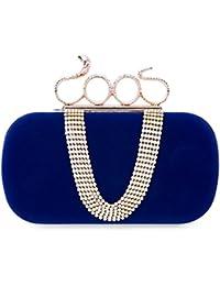 CLOCOLOR Bolso de mano de terciopelo con diamantes cristales brillantes cartera de mano con asa en forma de serpiente estilo elegante bolso de fiesta para mujer