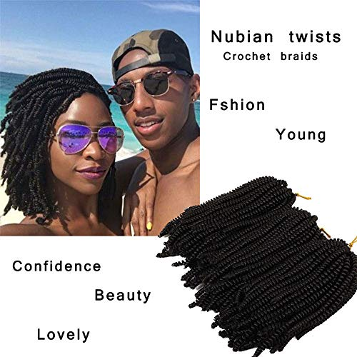 Eunice Hair 3 Pack 8inch Spring Twist Ombre Colors Crochet Braids