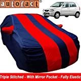 #3: Autofact Car Body Cover for Maruti Alto Old Model (2000 to 2014) (Mirror Pocket , Premium Fabric , Triple Stiched , Fully Elastic , Red / Blue Color)