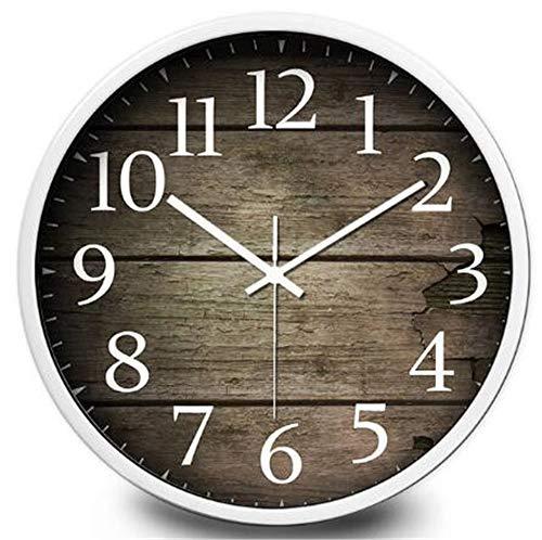 7791006b590 Ctyguazz Wanduhr Large Creative Wooden Plank Silent Wall Clock modern  Fashion Living Room Clock